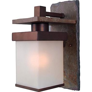 Kenroy Home Boulder 1 Light Large Wall Lantern, Natural Slate With Copper Finish