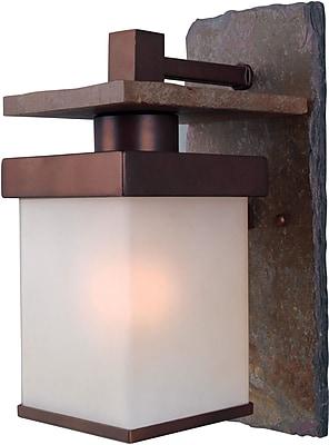 Kenroy Home Boulder 1 Light Medium Wall Lantern, Natural Slate With Copper Finish