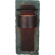 Kenroy Home Pembrooke 1 Light Small Wall Lantern, Natural Slate with Copper Finish