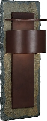 Kenroy Home Pembrooke 1 Light xL Wall Lantern, Natural Slate with Copper Finish