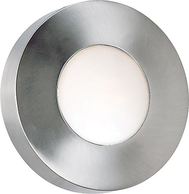 Kenroy Home Burst 1 Light Small Round Flush Wall Sconce, Polished Aluminum Finish