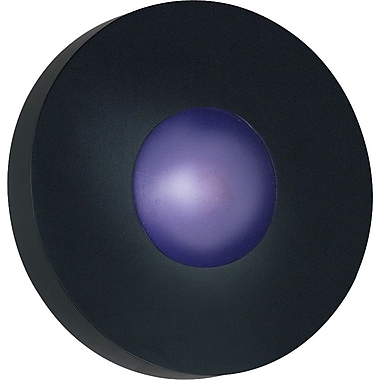 Kenroy Home Burst 1 Light Large Round Flush Wall Sconce, Black Finish