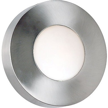 Kenroy Home Burst 1 Light Large Round Flush Wall Sconce, Polished Aluminum Finish