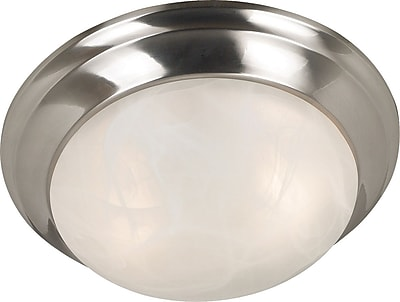 Kenroy Home Dickens 2 Light Flush Mount, Brushed Steel Finish