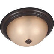 Kenroy Home Triomphe 3 Light Flush Mount with Self Ballasted Bulb, Cocoa Finish