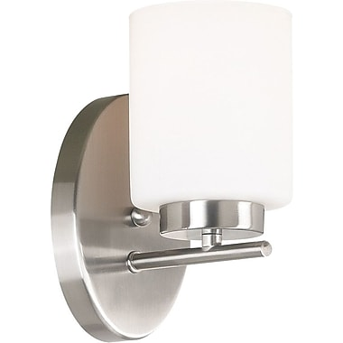 Kenroy Home Mezzanine 1 Light Wall Sconce, Brushed Steel Finish