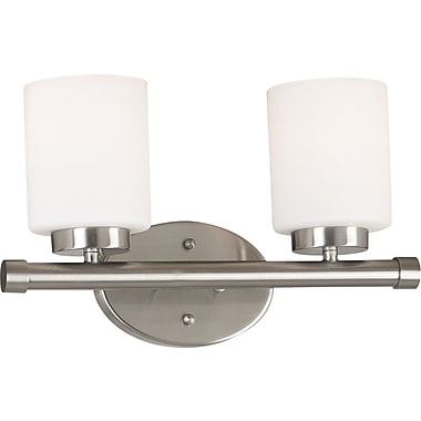 Kenroy Home Mezzanine 2 Light Vanity, Brushed Steel Finish