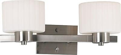 Kenroy Home Legacy 2 Light Vanity, Brushed Steel Finish