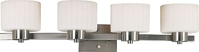 Kenroy Home Legacy 4 Light Vanity, Brushed Steel Finish