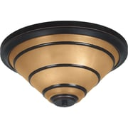 Kenroy Home Wright 2 Light Flush Mount, Oil Rubbed Bronze Finish
