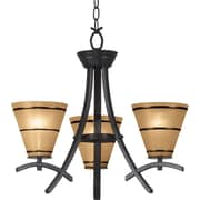 Kenroy Home Wright 3 Light Chandelier, Oil Rubbed Bronze Finish