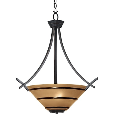 Kenroy Home Wright 3 Light Pendant, Oil Rubbed Bronze Finish
