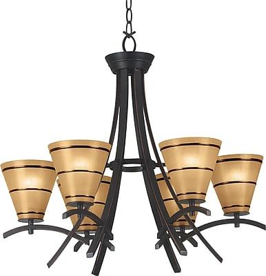 Kenroy Home Wright 6 Light Chandelier, Oil Rubbed Bronze Finish