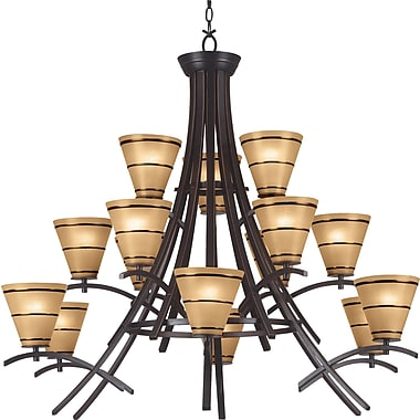 Kenroy Home Wright 15 Light Chandelier, Oil Rubbed Bronze Finish