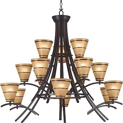 Kenroy Home Wright 15 Light Chandelier, Oil Rubbed Bronze Finish