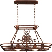 Kenroy Home Dorada 2 Light Pot Rack, Gilded Copper Finish