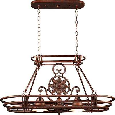 Kenroy Home Dorada 2 Light Pot Rack, Gilded Copper Finish
