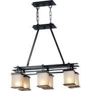 Kenroy Home Plateau 6 Light Island Light, Oil Rubbed Bronze Finish