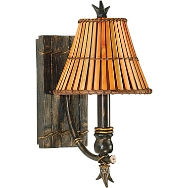 Kenroy Home Kwai 1 Light Wall Sconce, Bronze Heritage Finish