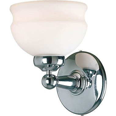 Kenroy Home Shire 1 Light Wall Sconce, Polished Nickel Finish