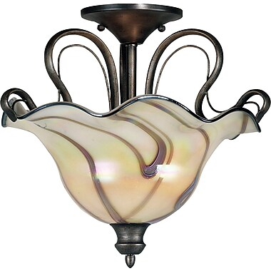 Kenroy Home Inverness 2 Light Semi-flush, Tuscan Silver Finish