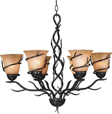 Kenroy Home Twigs 6 Light Chandelier, Bronze Finish