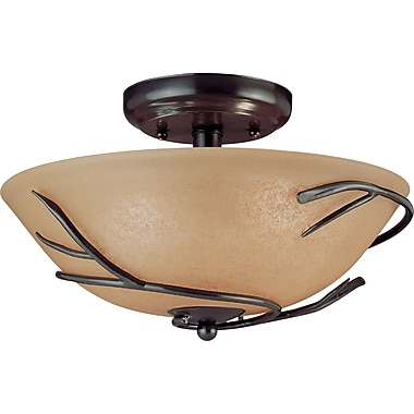 Kenroy Home Twigs 3 Light Flush Mount, Bronze Finish