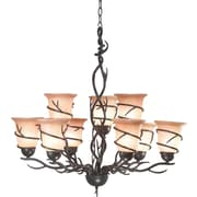 Kenroy Home Twigs 9 Light Chandelier, Bronze Finish
