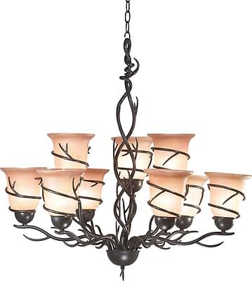 Kenroy Home Twigs 9 Light Chandelier, Bronze Finish