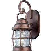 Kenroy Home Beacon 1 Light Small Wall Lantern, Gilded Copper Finish