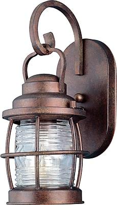 Kenroy Home Beacon 1 Light Small Wall Lantern, Gilded Copper Finish