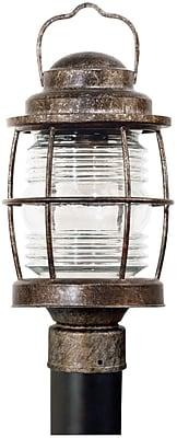 Kenroy Home Beacon Post Lantern, Flint Finish