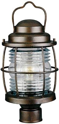 Kenroy Home Beacon Post Lantern, Gilded Copper Finish