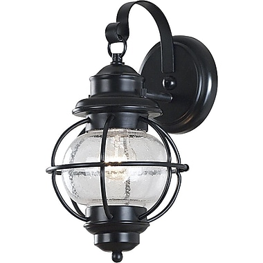 Kenroy Home Hatteras 1 Light Small Wall Lantern, Black Finish
