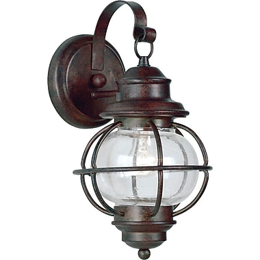 Kenroy Home Hatteras 1 Light Small Wall Lantern, Gilded Copper Finish
