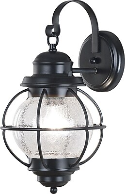 Kenroy Home Hatteras Medium Wall Lantern, Black Finish