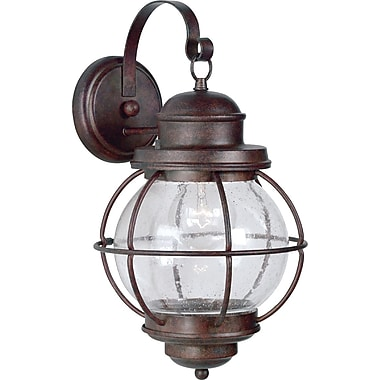 Kenroy Home Hatteras Medium Wall Lantern, Gilded Copper Finish
