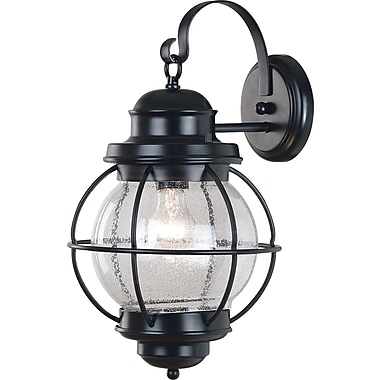 Kenroy Home Hatteras Large Wall Lantern, Black Finish