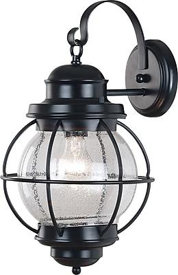 Kenroy Home Hatteras Large Wall Lantern, Black Finish