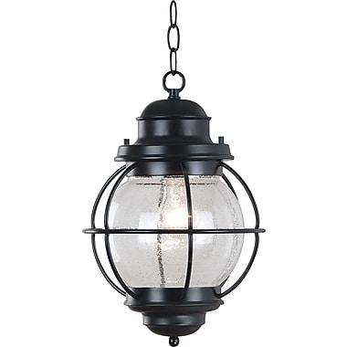 Kenroy Home Hatteras Hanging Lantern, Black Finish