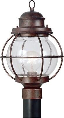 Kenroy Home Hatteras 1 Light Post Lantern, Gilded Copper Finish