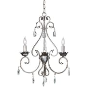 Kenroy Home Antoinette 3 Light Chandelier, Weathered Silver Finish