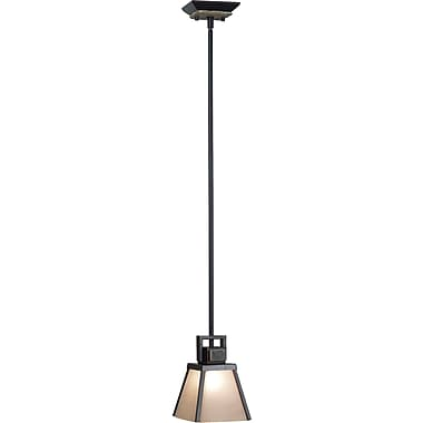 Kenroy Home Clean Slate 1 Light Mini Pendant, Oil Rubbed Bronze Finish