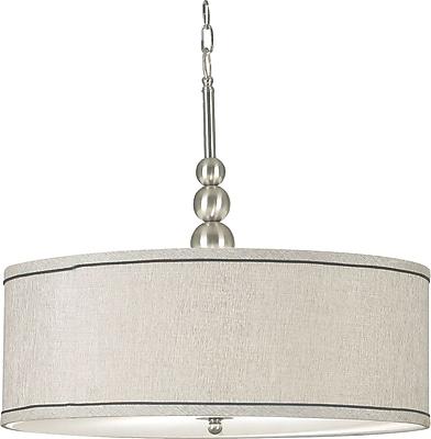 Kenroy Home Margot 3 Light Pendant, Brushed Steel Finish