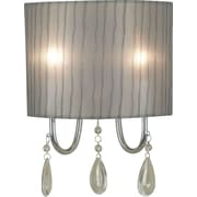 Kenroy Home Arpeggio 2 Light Wall Sconce, Chrome Finish