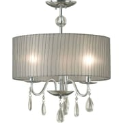 Kenroy Home Arpeggio 3 Light Pendant, Chrome Finish