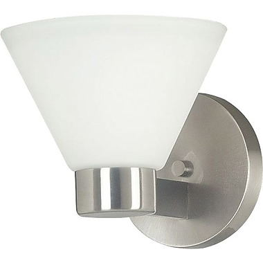 Kenroy Home Maxwell 1 Light Wall Sconce, Brushed Steel Finish