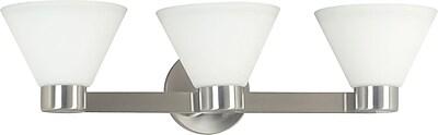 Kenroy Home Maxwell 3 Light Vanity, Brushed Steel Finish