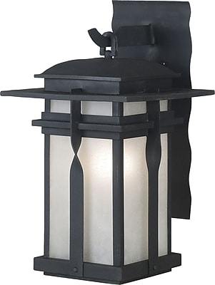 Kenroy Home Carrington 1 Light Small Wall Lantern, Black Finish
