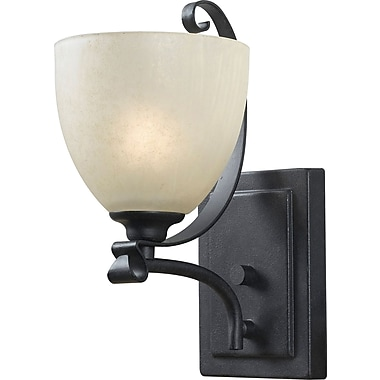 Kenroy Home Willoughby 1 Light Wall Sconce, Forged Graphite Finish